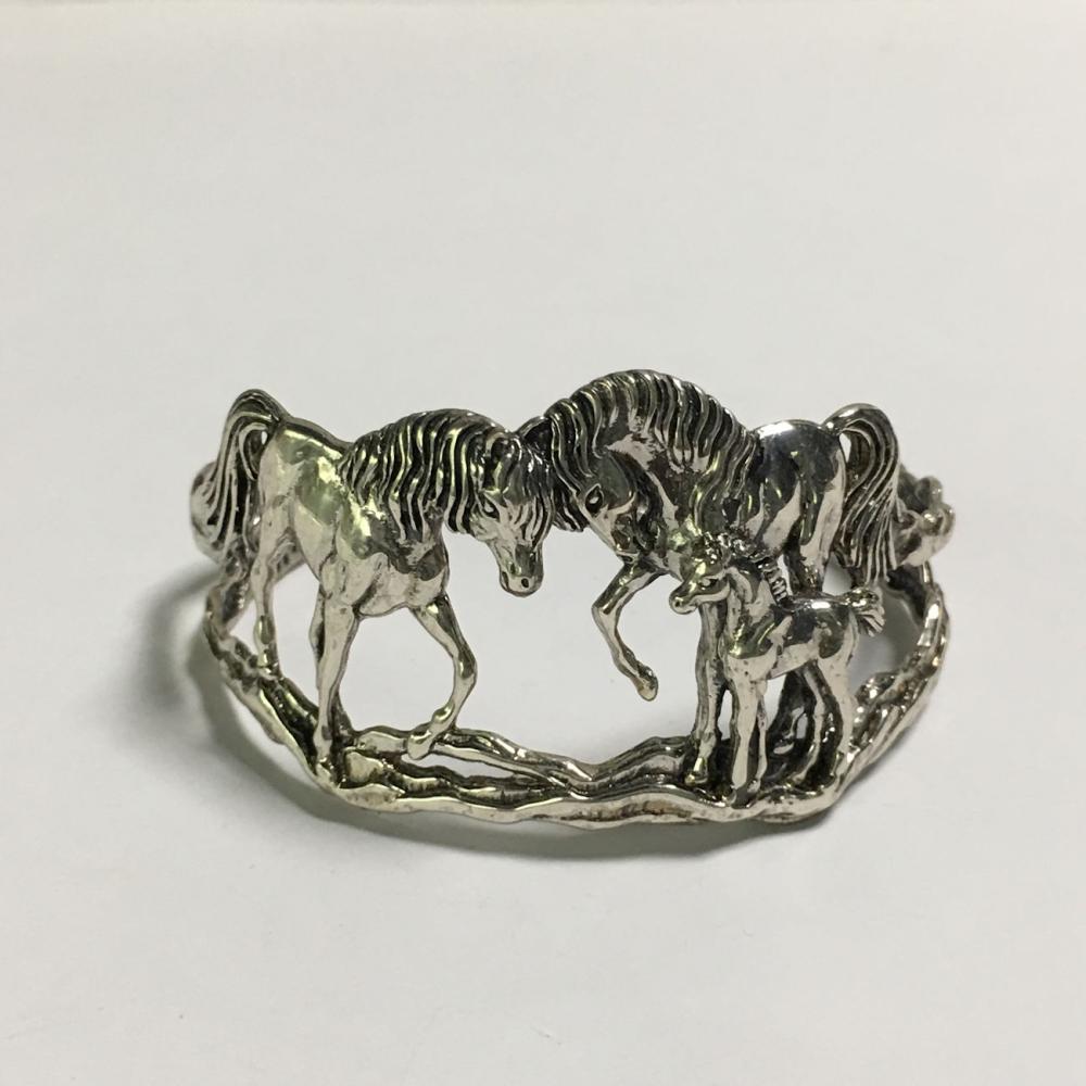 Sterling Silver Horse Cuff Bracelet