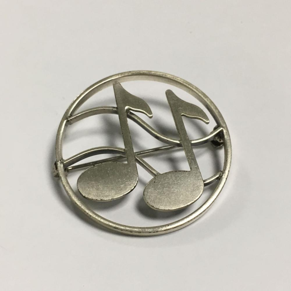 Beau Sterling Silver Musical Pin