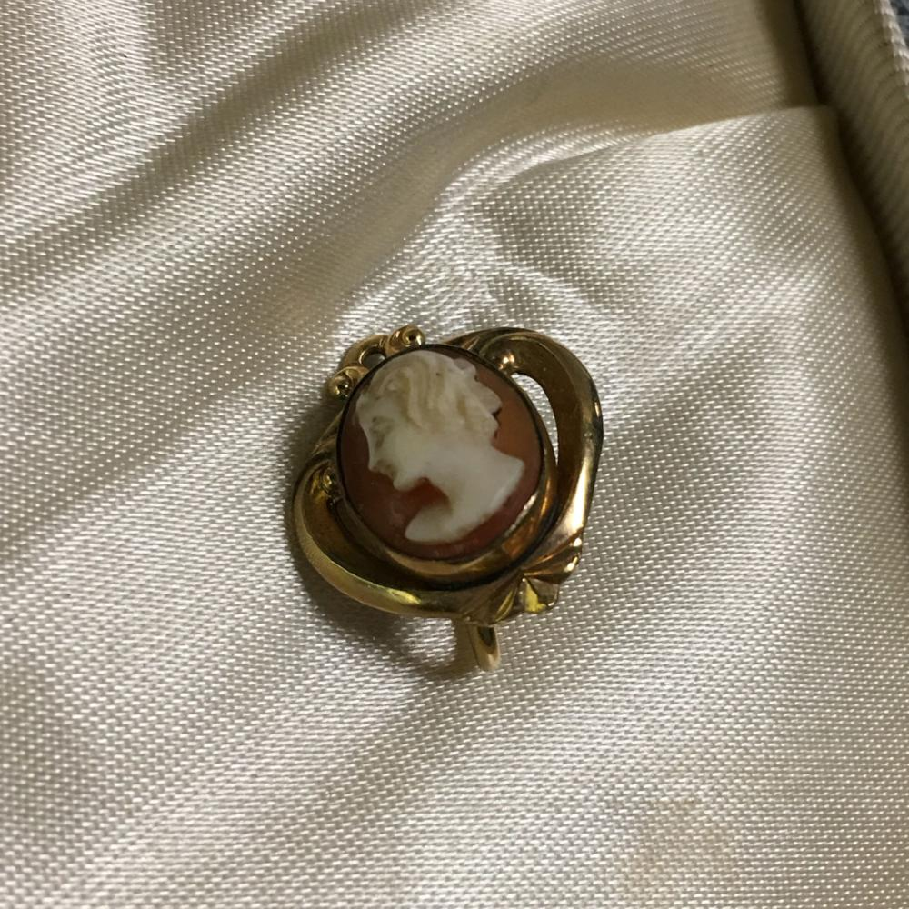 Cameo Pendant Necklace With Cameo Earrings In Box