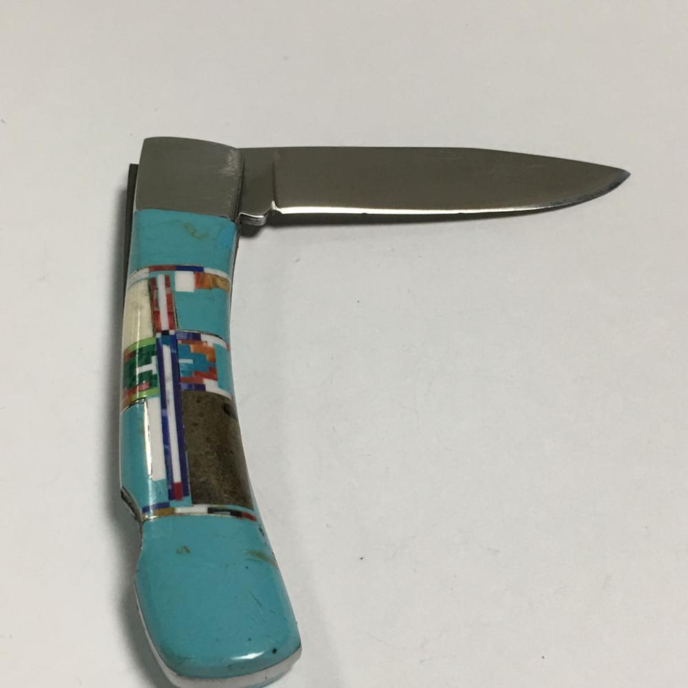 Large Gemstone Inlaid Pocket Knife