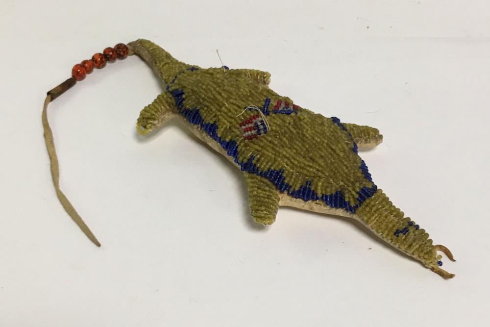 Indian Leather & Beaded Animal