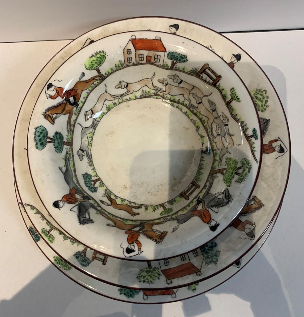 Crown Staffordshire Bone China Plates And Bowl