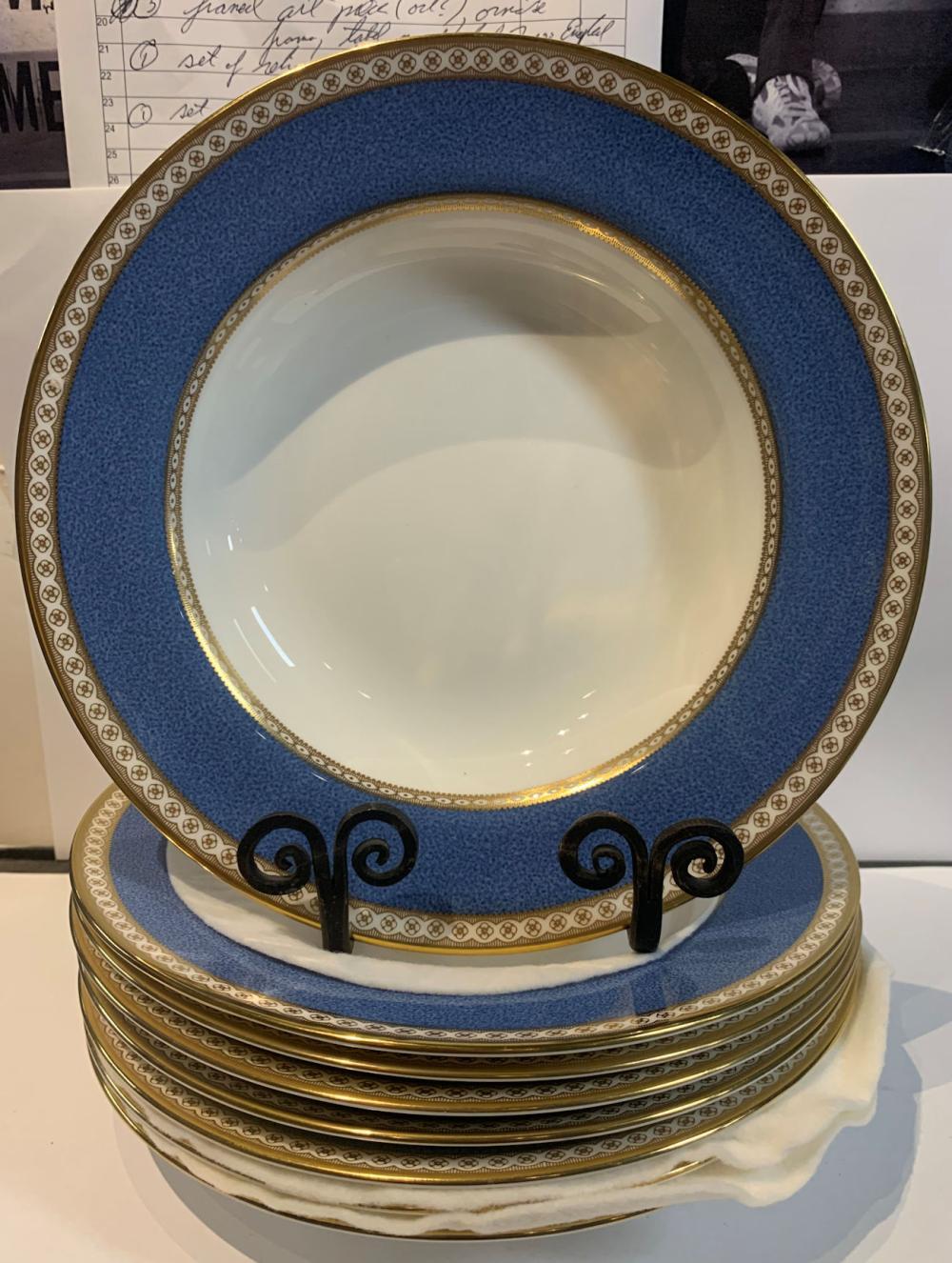 8 Wedgwood Bone China Soup Plates