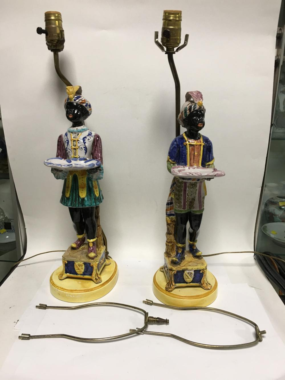 Pair Of Blackamore Figural Candle Sticks