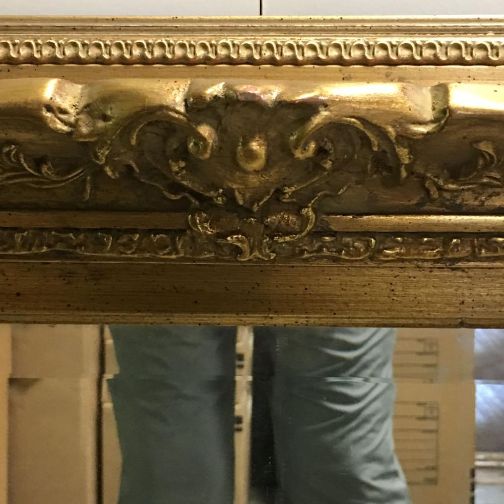 Beveled Glass Mirror In Ornate Gilt Frame