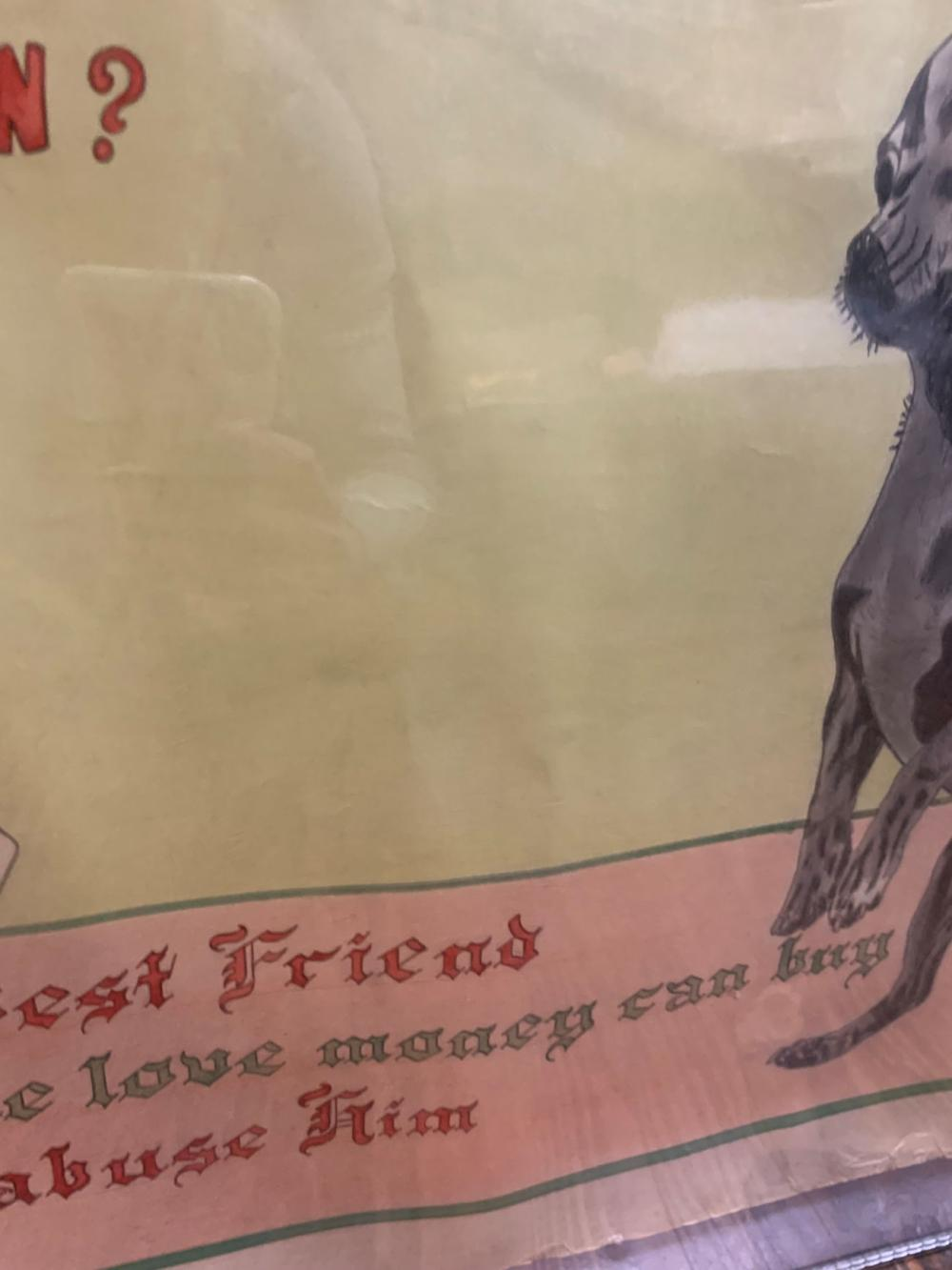Signed Oliver '54 Drawing, Man's Best Friend