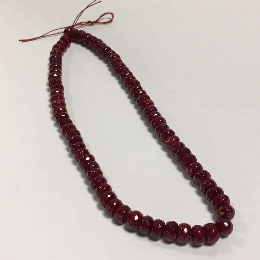 Faceted Ruby Beads