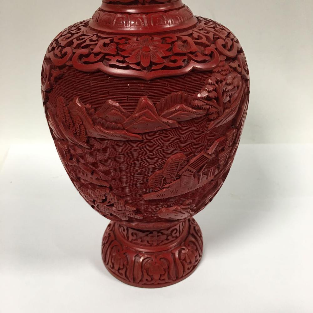 Oriental Cinnabar Vase