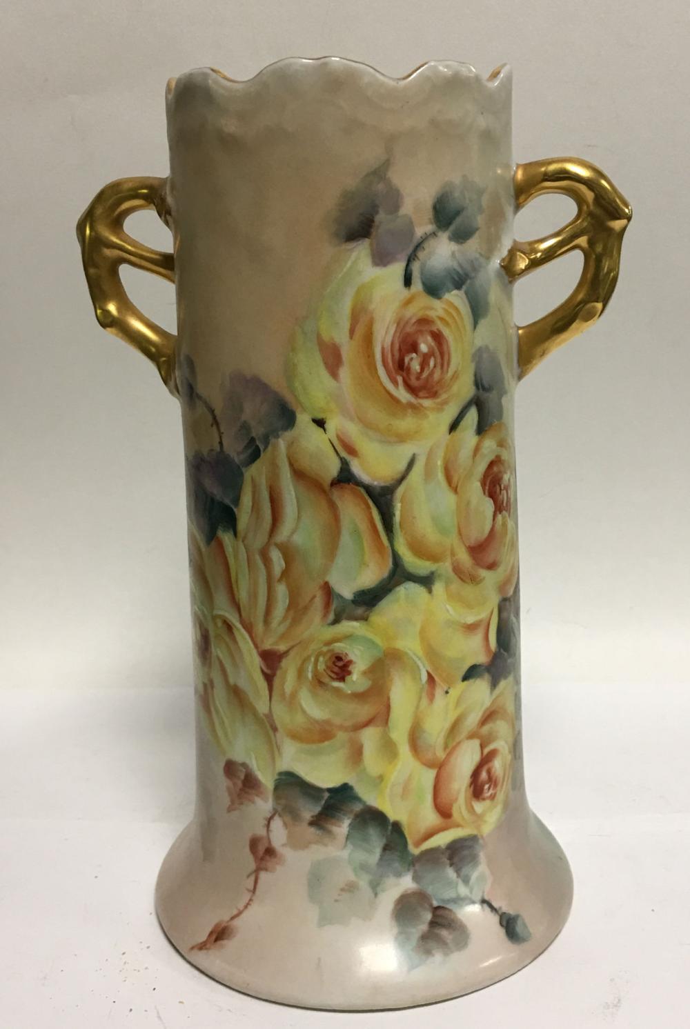 Signed Altwasser Silesia Hand Painted Vase
