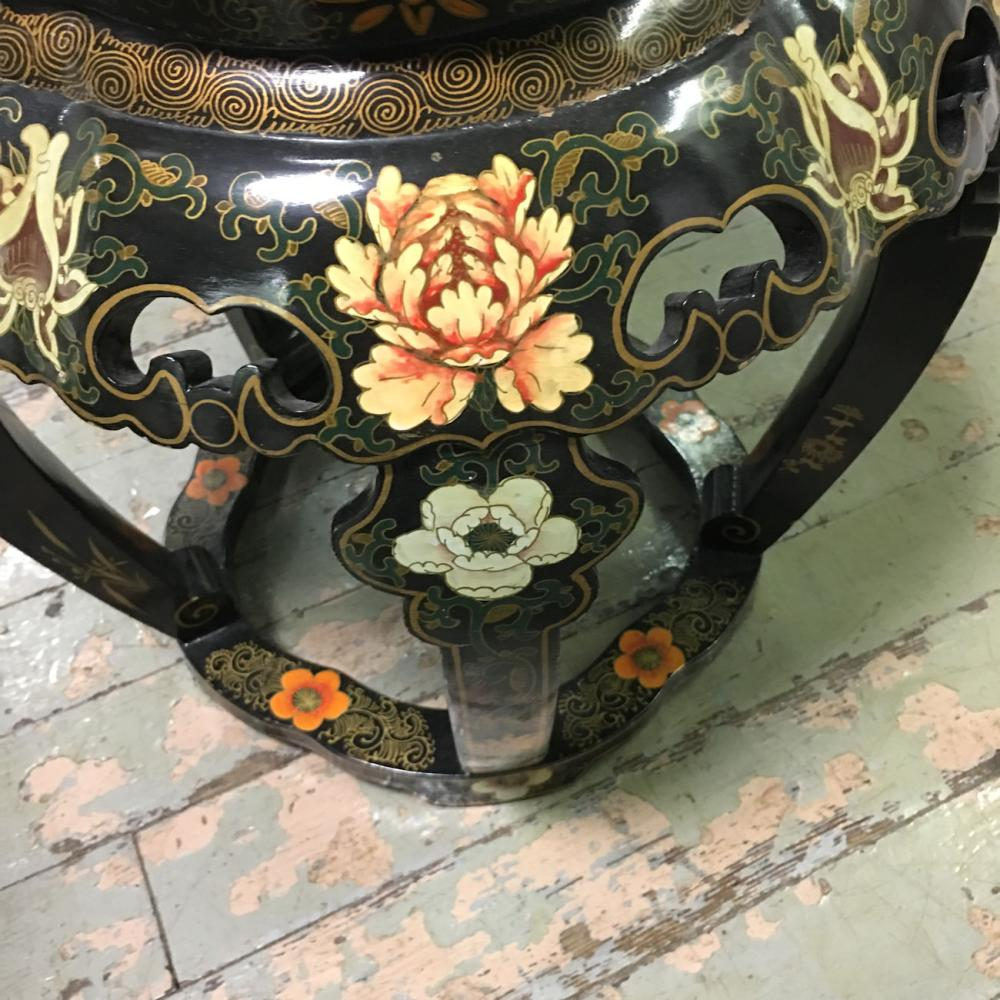 Oriental Hand Decorated Stool