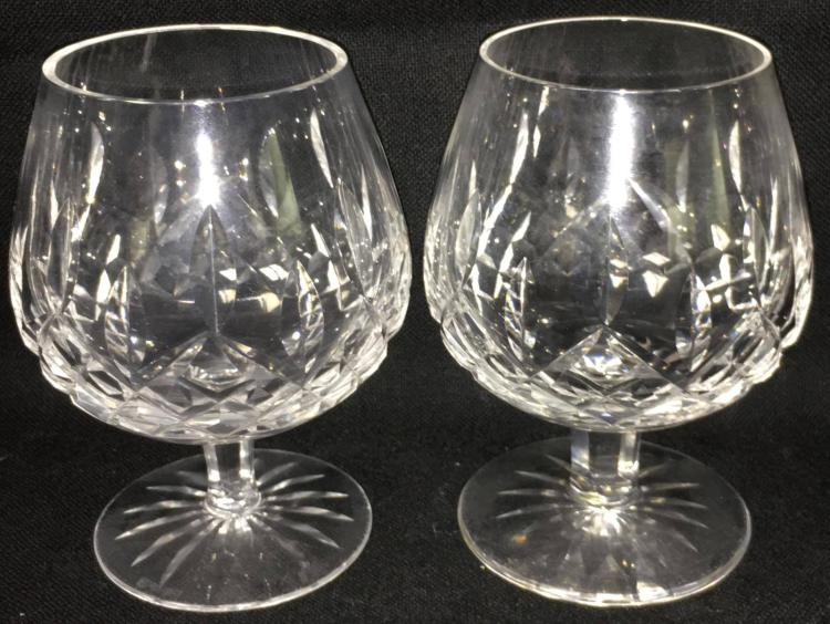 Pair of waterford crystal cognac glasses - Waterford cognac glasses ...