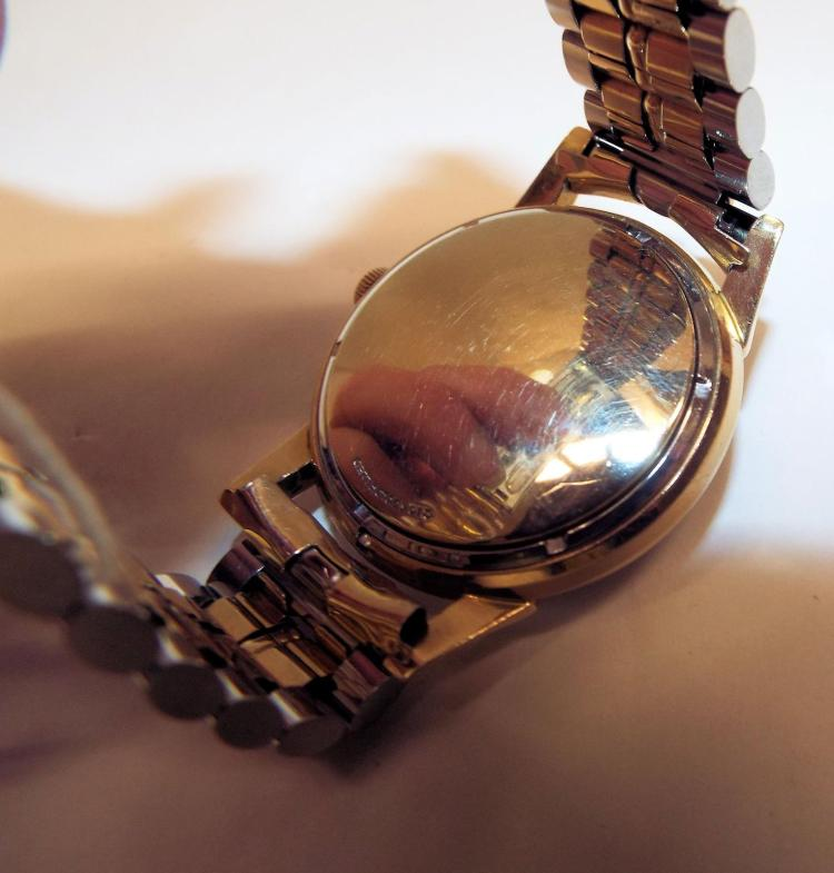10k gold filled longines automatic wrist