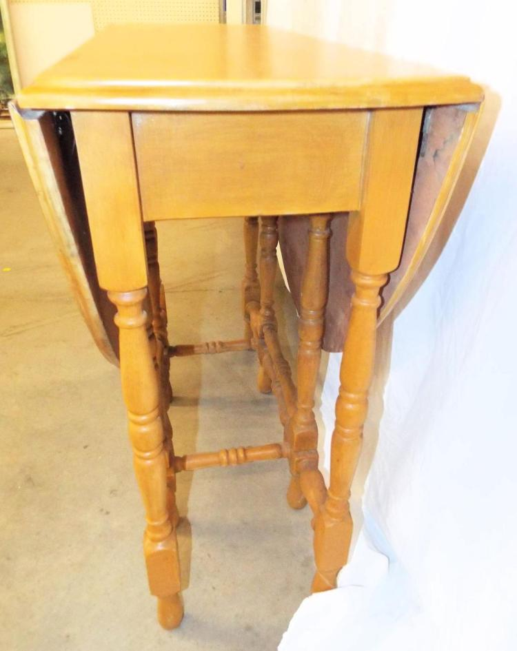 Gateleg one drawer drop leaf table - Gateleg table with drawers ...