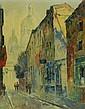 Artist signed oil on canvas city scene
