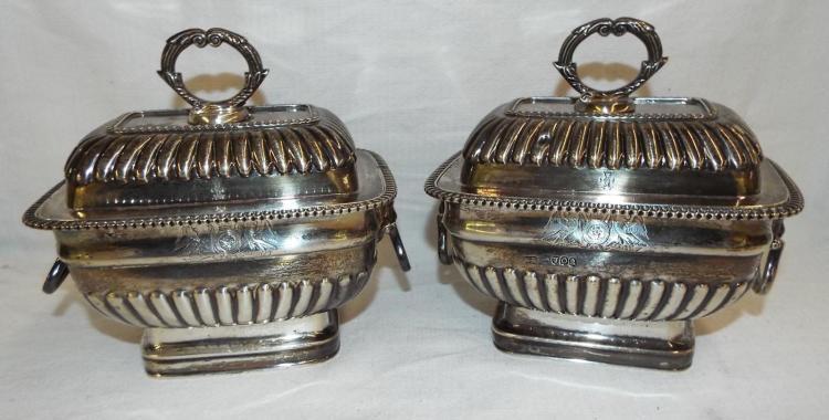 2 Georgian Silver William Bateman Sauce Tureens
