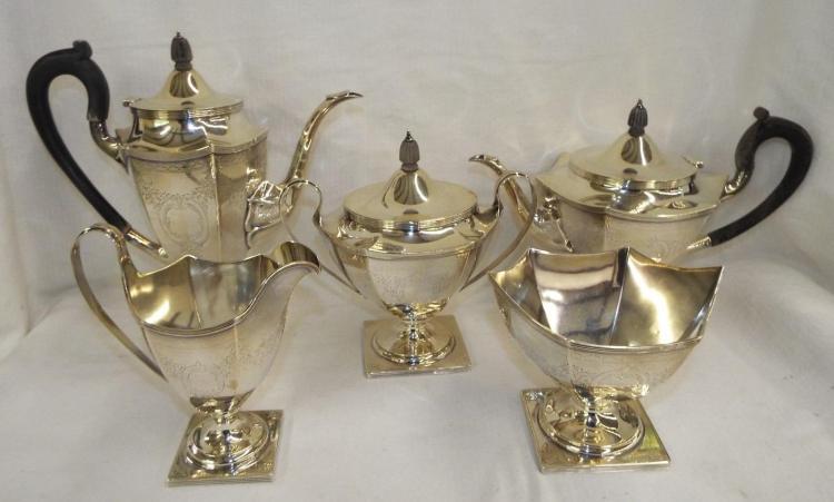 Five Piece Sterling Silver Tea Set