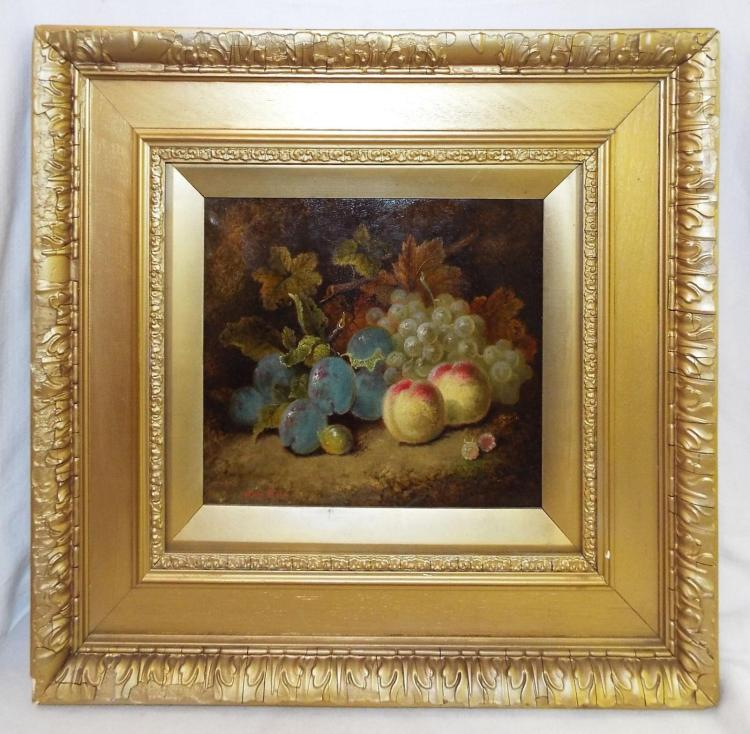Oliver Clare Oil On Canvas Of Fruit Still Life