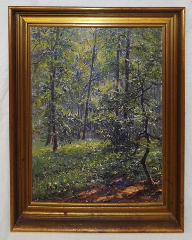 Jules Dubois Oil On Canvas Of Trees
