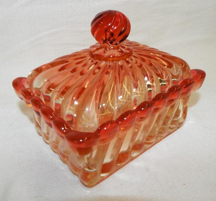 Baccarat Rose Tiente Dresser Jar