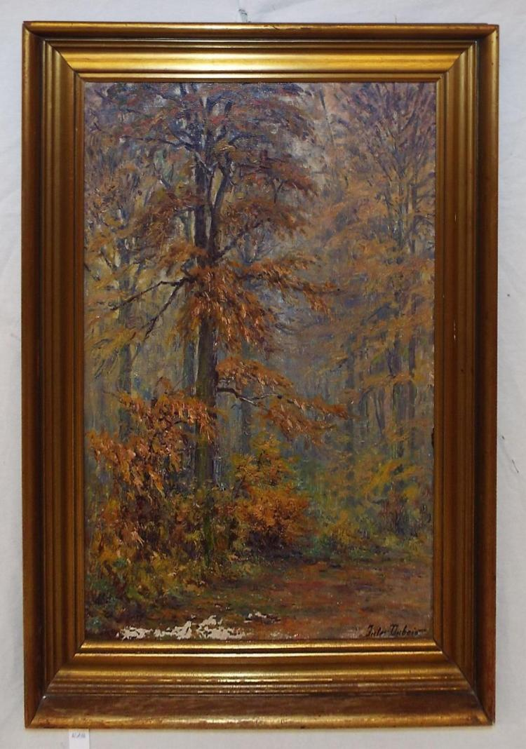 Jules Dubois Oil On Board Of Autumn Trees