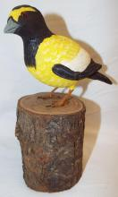 Bob Lee Hand Carved & Painted Bird