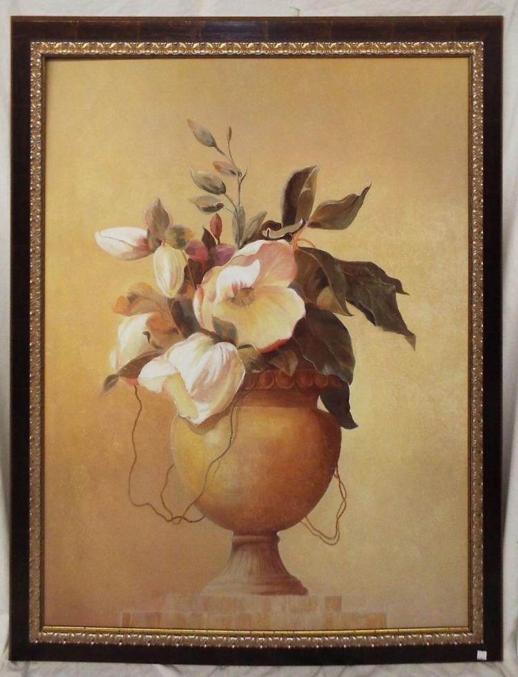 Large Framed Print Of Flower Urn