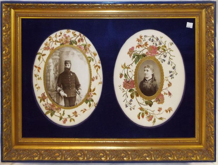 2 19th Century French Porcelain Portrait Plaques