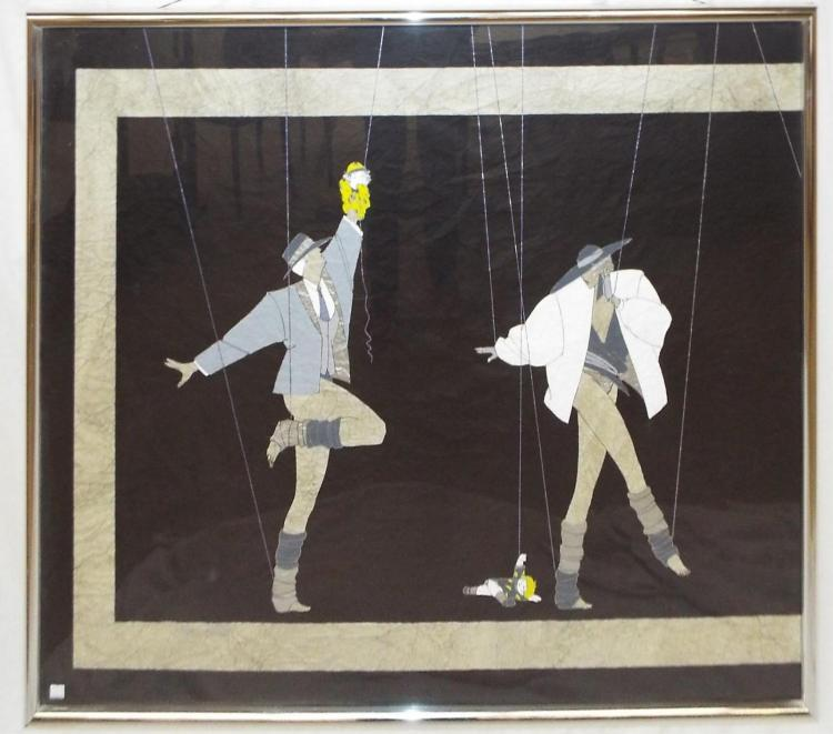 Mixed Media Painting Of Marionettes