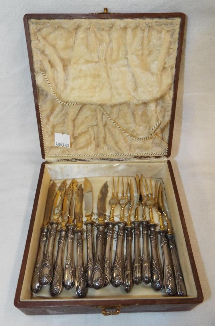 Group Of Forks And Knives With Sterling Handles