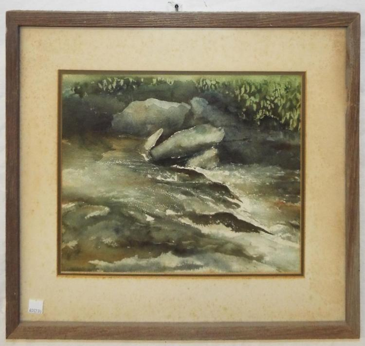 Watercolor Of Stream
