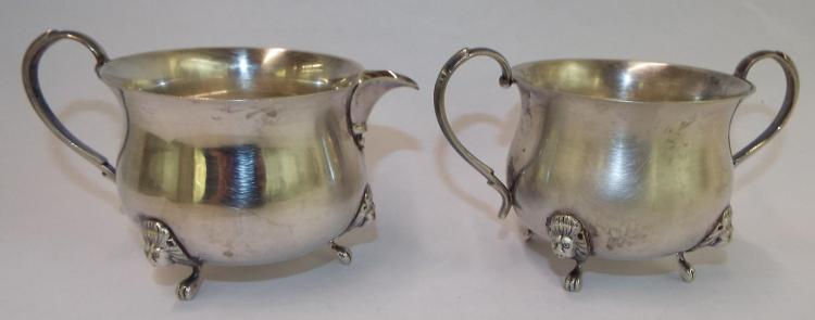 Sterling Silver Cream And Sugar