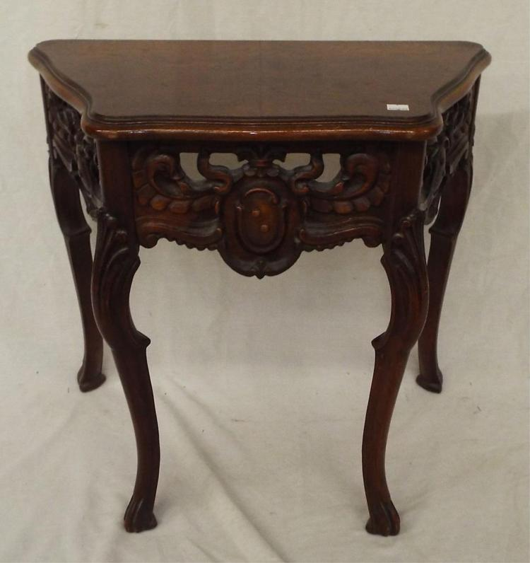 Hall Table With Carved Legs And Sides
