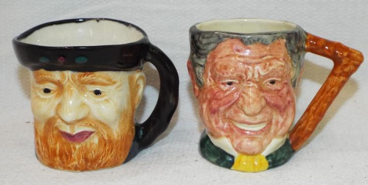 Two Character Mugs, Occupied Japan & England