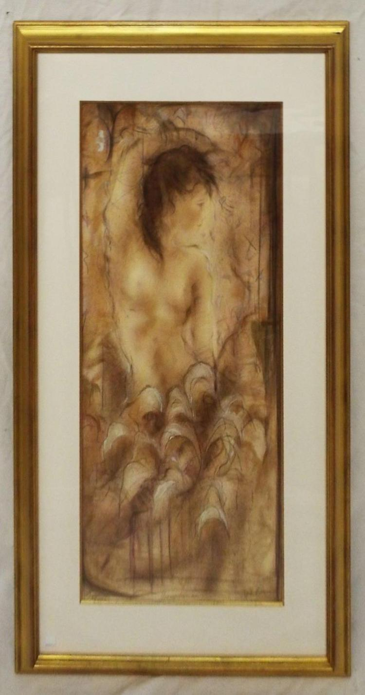 Artist Signed And Numbered Print Of Nude