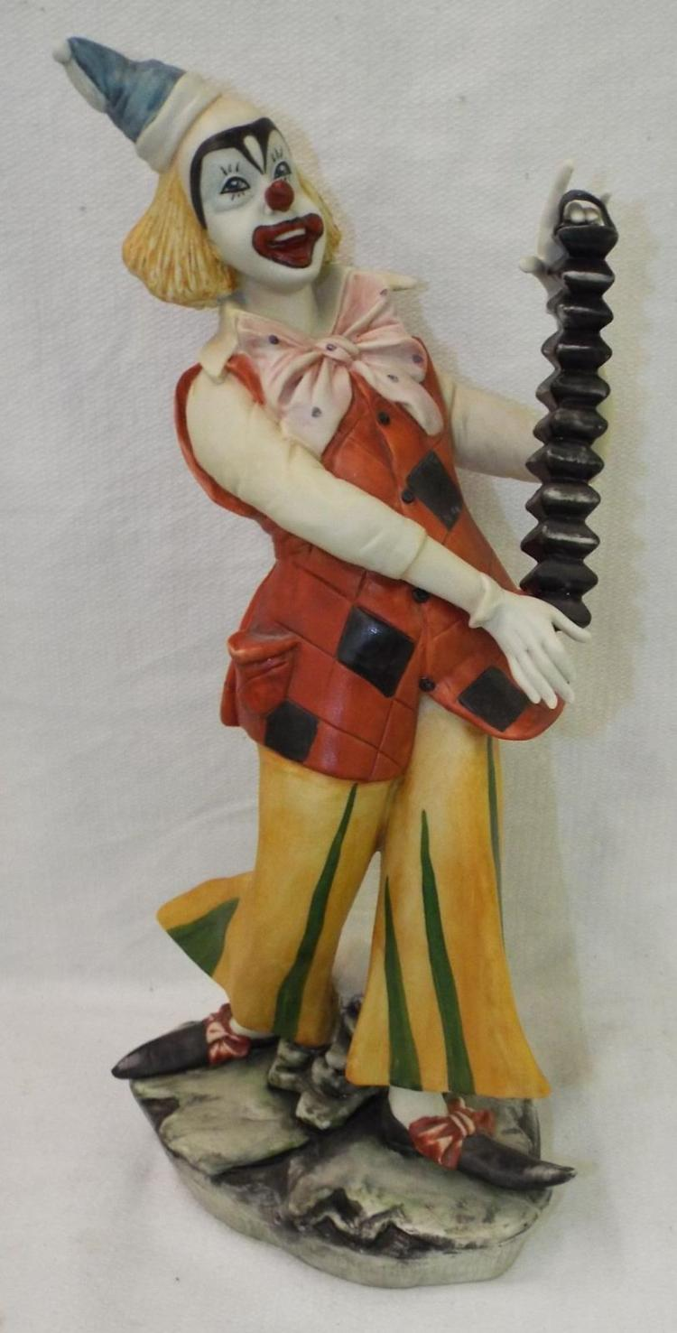 Italy Hand Painted Clown Figure