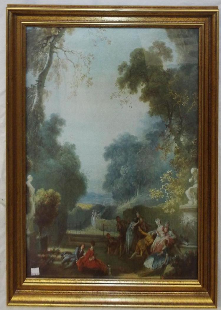 Jean-honoré Fragonard Print, A Game Of Hot Cockles