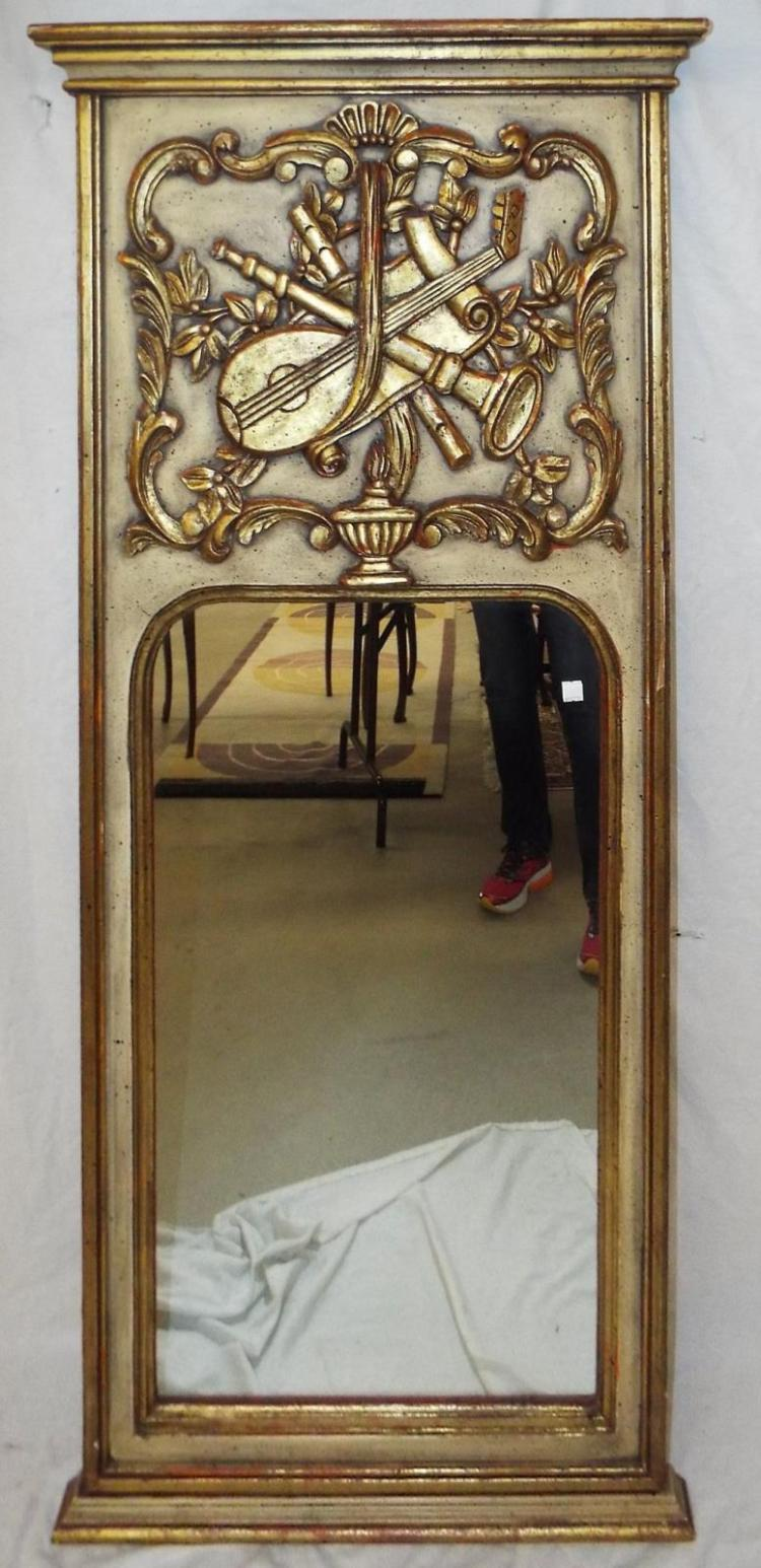Mirror In Carved And Painted Frame