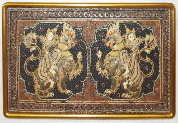 18/19th Century India Figural Needlework