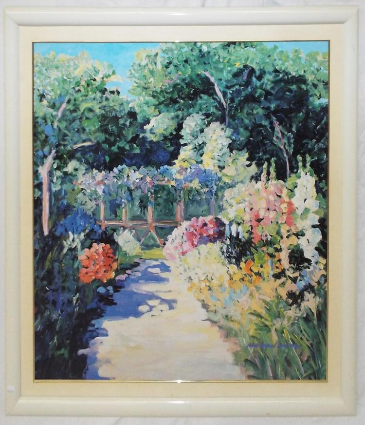 Nell Revel Smith Print Of Flower Garden