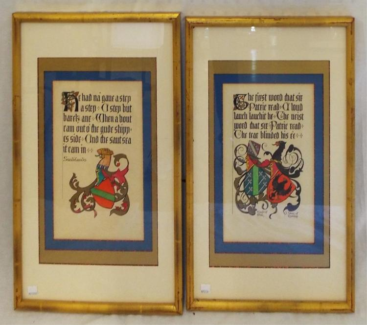 Pair Of Art Deco Book Pages