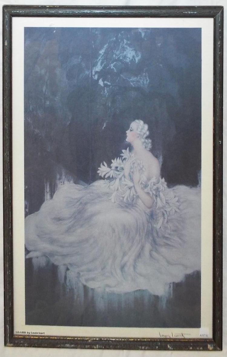 Louis Icart Print, Lillies