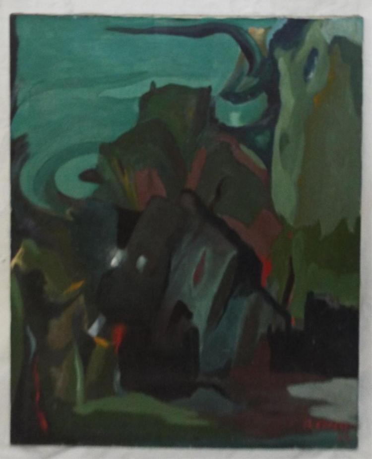 A. Cerezo Oil On Canvas