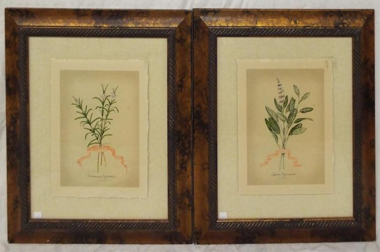 Pair Of J. Goldberger Colored Prints Of Flowers