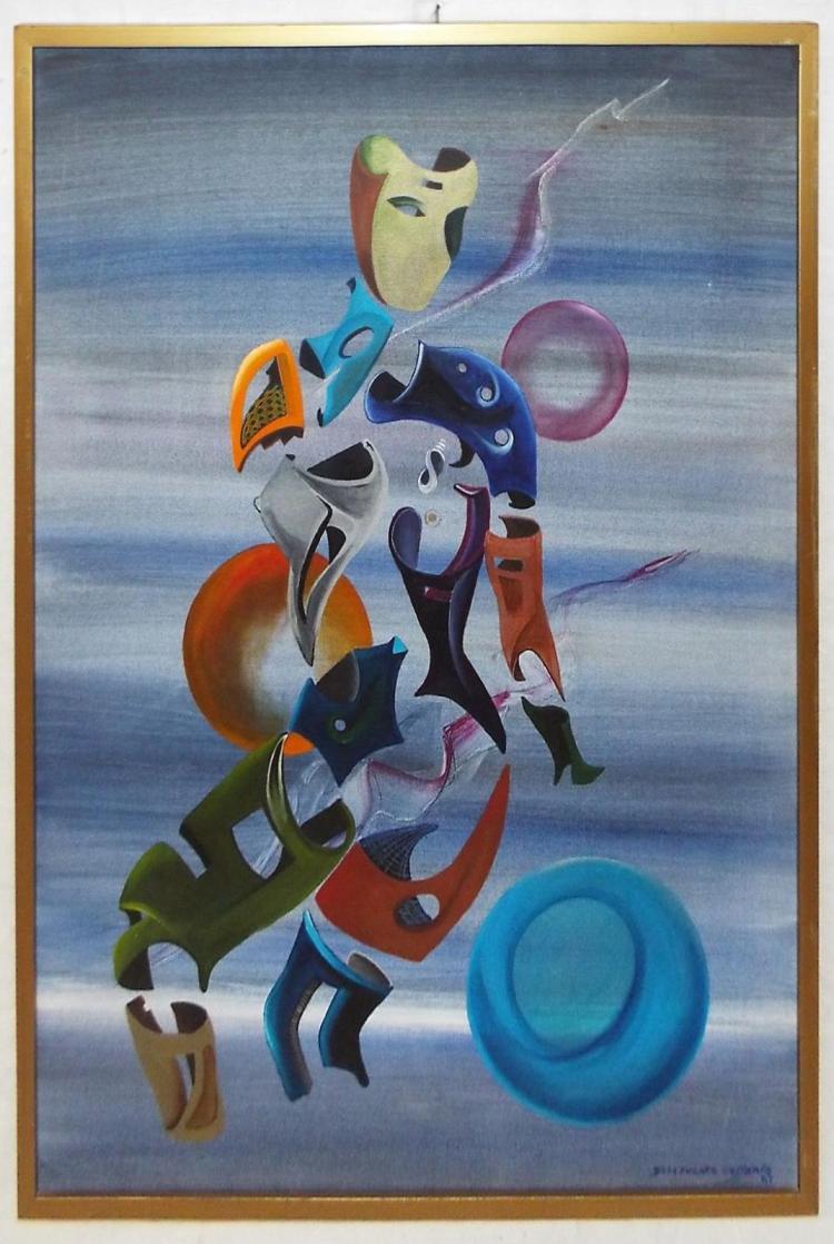 De La Fuente Cessario '87 Oil On Canvas