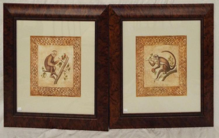 Pair Of Framed Prints, Monkey Business