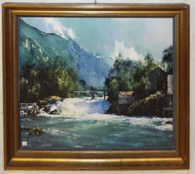 Mae H. Bertoni W/c, Mountain Landscape & River