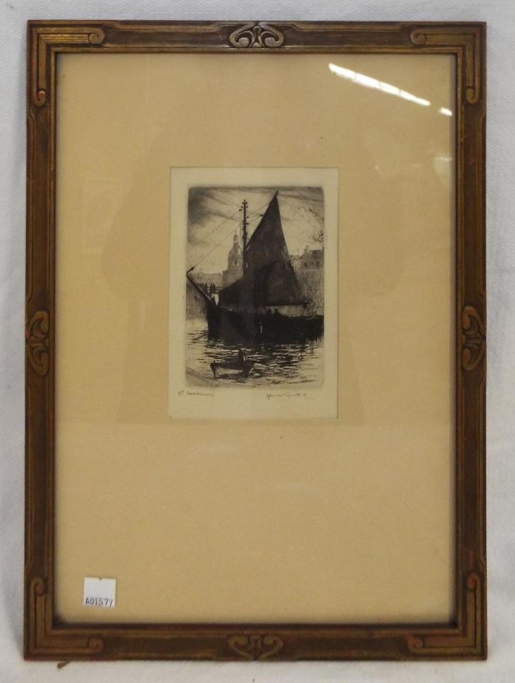 Pencil Signed Engraving, Safe Harbor
