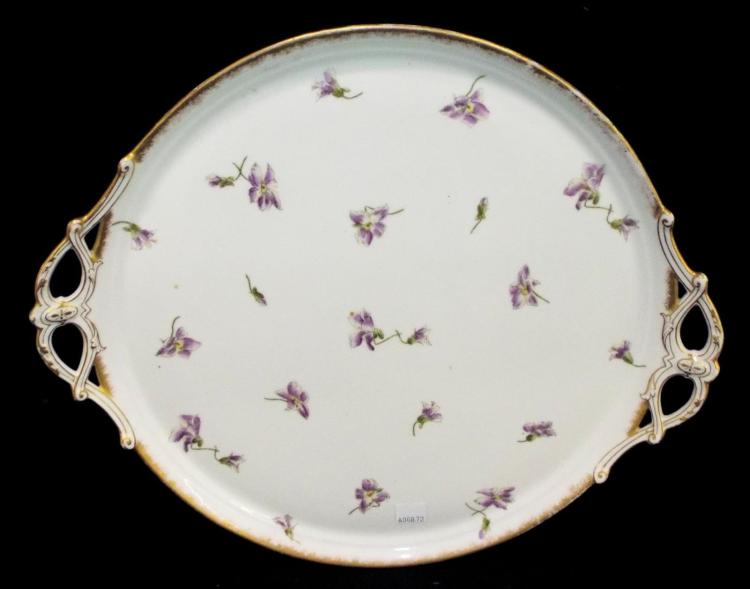 Hand Painted French Porcelain Tray