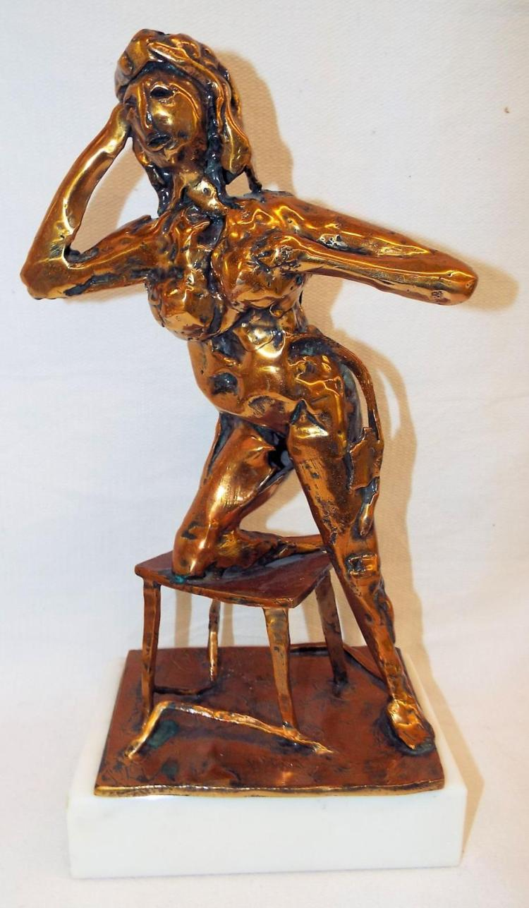 Abbott Pattison Bronze Sculpture On Marble Base