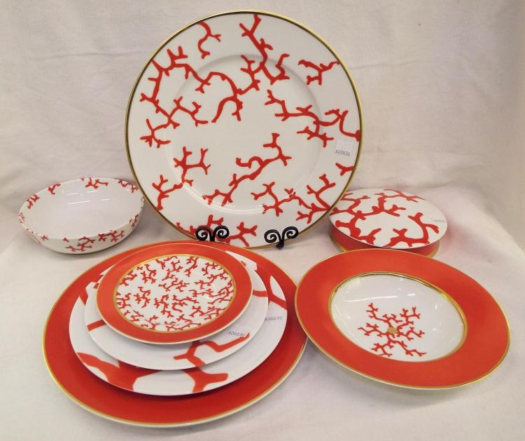 Limoges Cristobal Plates And Bowls, 8 Pieces
